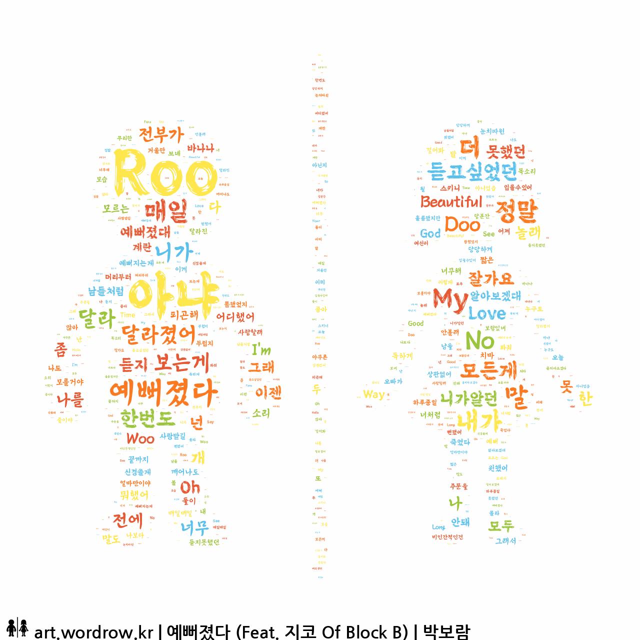 워드 아트: 예뻐졌다 (Feat. 지코 Of Block B) [박보람]-6
